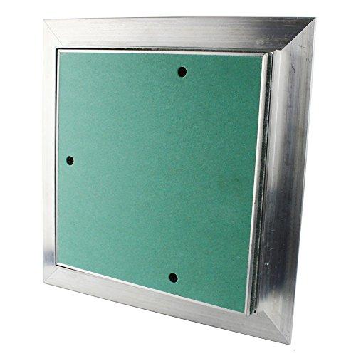12,5mm Revisionsklappe Staubdicht GK-Einlage Gipskarton Revisionstür Revision Wartungstür Wartung Reinigungsklappe Wartungsöffnung mit Aluminium-Rahmen Feuchtraumgeeignet grün Trockenbau (500x500mm)