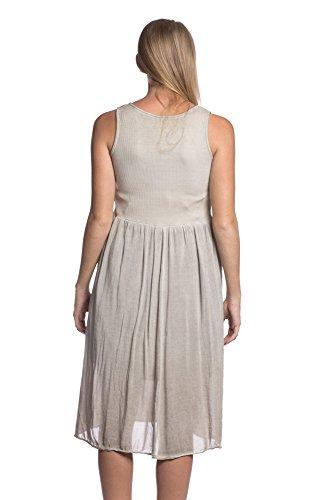 ... Abbino 5733 Kleider mit Knopfleiste Damen Frauen - Made in Italy - 6  Farben - Übergang