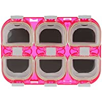 6 Compartimentos Magnética De Plástico Impermeable Gancho De Aparejos De Pesca Caja