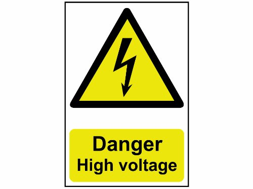 Scan 0761 - Cartello in PVC Danger High Voltage, 200 x 300 mm