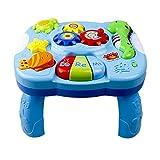 iBaste Musikalische Lerntisch Baby Spielzeug - Frühe Bildung,Musik Aktivitätszentrum Spieltisch Kleinkinder Spielzeug für 1 2 3 Jahre alt - verschiedene Beleuchtungen und Klingen