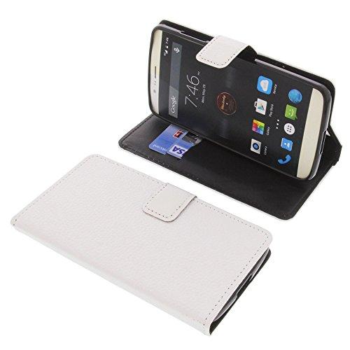 foto-kontor Tasche für Elephone P8000 Book Style weiß Schutz Hülle Buch