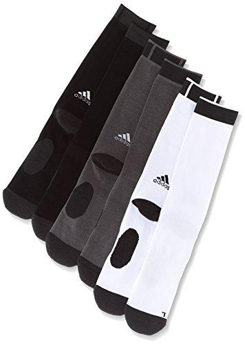 adidas Herren 3 Paar Climalite Crew Socken, White/Trace Grey/Black, 46-48