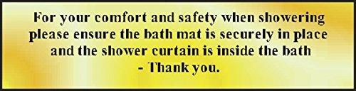 d Sicherheit beim Duschen POL 200 x 50 mm, poliertes gold-Effekt