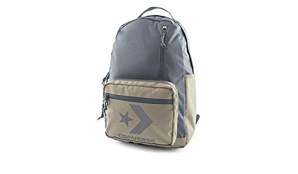 55a3ae96d5 Converse Unisex Backpack Block Essential Backpack Vintage Khaki Gray Grey  Beige  Amazon.co.uk  Clothing
