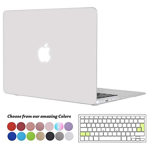 TECOOL MacBook Air 13 Zoll Hülle, Slim Case Plastik Hartschale Snap Cover mit Silicon Transparente Tastaturschutz Schutzhülle für Apple 2010-2017 MacBook Air 13,3