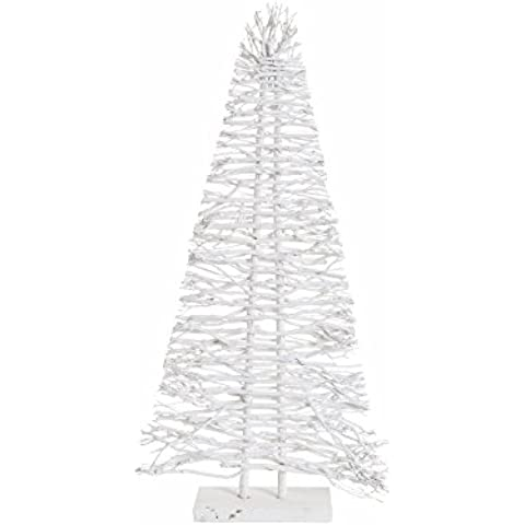 Arbolito de Navidad moderno blanco de madera para decoración navideña Christmas