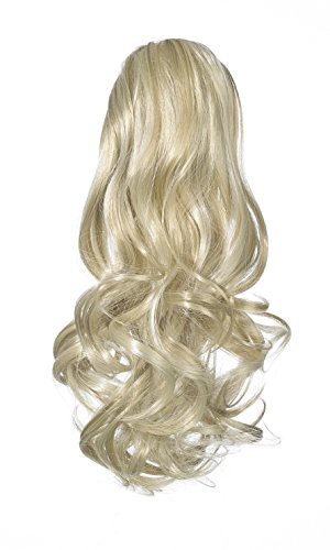 Love Hair Extensions - LHE/N/GUSHYBIRD/DS/22/60/613 - Prime de Fibres Gushybird - Cordon Coulissant - Queue de Cheval - Couleur 22/60/613 - Blond Plage / Blond Pur / Blond Crème