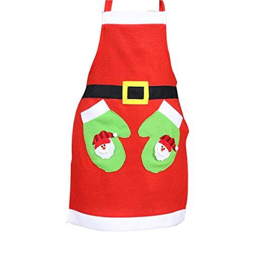 ounona Noël Tablier Restaurant Dîner Tablier avec 2 poches Belle pour cuisson Cuire Bar bequing hostee et housew Arming (Gant)