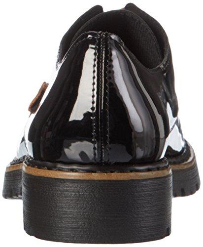 Rieker M6614, Scarpe Stringate Donna Nero (schwarz/mogano / 00)