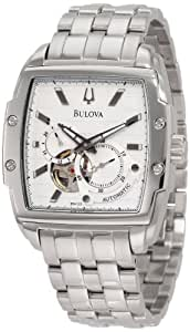 Bulova Men's Mechanical 96A122 White Stainless-Steel Automatic Watch with Silver Dial