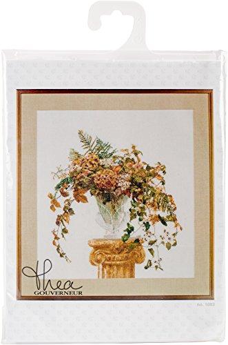 Thea Gouverneur TG1083A Kreuzstich-Set, 52,9 x 55,9 cm, Motiv Herbst auf Aida, 16 Stück - Gouverneur Kreuzstich-thea