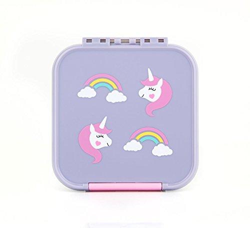 Little Lunch Box Co. Mini Snackbox für Kinder mit Unterteilungen | Bento Box | Brotdose (Glitzer Lila)