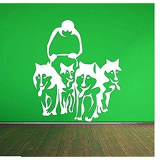 Wuyyii Husky Dog Huskies Schlitten Vinyl Wandkunst Aufkleber Aufkleber Pet Wohnzimmer Adesiv Home Decor Wandaufkleber WandbildA