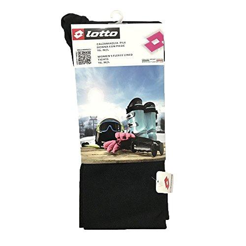 Lotto Calzamaglia pile donna piede colore Nero (M-L)