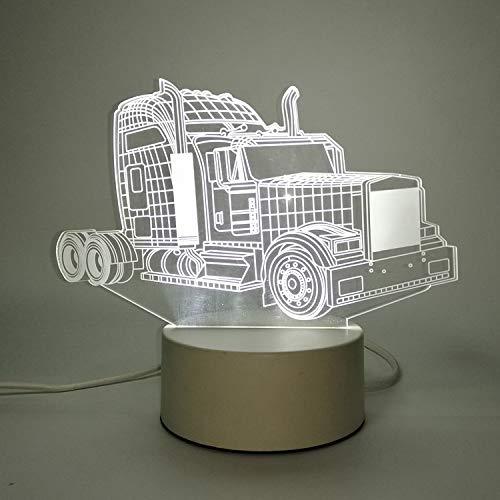 3D nachtlicht USB Plug-in Schalter Schlafzimmer nachttischlampe led kleine tischlampe schlafsaal Dekoration kreative Urlaub Geschenk Oldtimer monochrom warmes licht (3 Watt) -