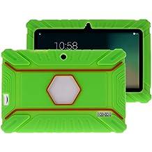 """Fukalu Funda de la Cubierta 7 pulgadas de silicona a prueba de golpes para los niños para Jeja La tableta de 7 """"Dragón táctil de 7 pulgadas, iRULU X1S Tablet de 7 pulgadas, Yuntab Q88 A33 7 pulgadas, iRULU niños de 7 pulgadas, Alldaymall A88X Tablet 7 pulgadas, ibowin P740 7 Pulgadas (Verde)"""