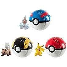 Pokémon - Jeux de Figurines - Figurine - Pokemon Throw'n Pop Feunnec Super Ball