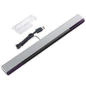 KIMILAR Wii Sensorleiste Ersatz Infrarot-LED-Sensor Bar für Nintendo Wii & Wii U, verkabelt enthält klare Haltung