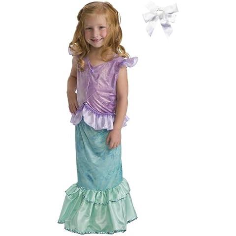 2 Item Bundle: NEW Little Adventures 11242 Mermaid Princess Dress