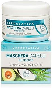 Maschera capelli Nutriente con Canapa, Avocado ed Argan - Bio & Vegan - Nickel tested - altamente dermocom