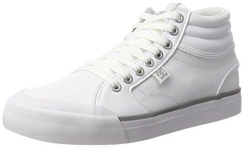 DC Shoes Damen Evan HI Sneaker, Weiß (White/Silver), 38 EU
