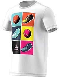 adidas Herren Tennis T-Shirt Pop Art White L