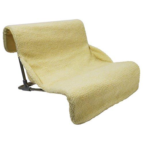 Rosewood lettino per gatti, in palissandro di qualità, da radiatore e da pavimento, caldo, comodo e sicuro, altezza 71x profondità 35x larghezza 42, colore beige