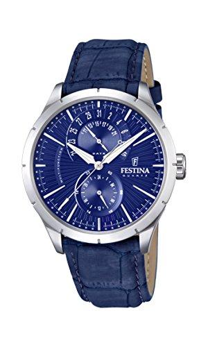 Festina - F16573/7 - Montre Homme - Quartz Analogique - Bracelet Cuir Bleu