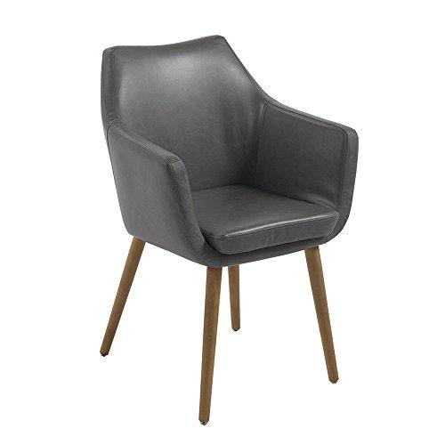 AC Design Furniture Stuhl Trine, B: 58 x T:58 x H: 84 cm, Metall, Grau -