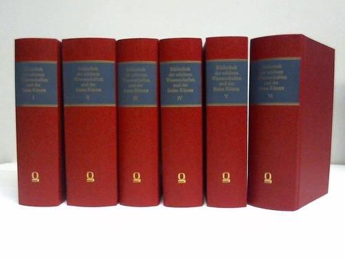 Bibliothek der schnen Wissenschaften und der freyen Knste. 12 Bnde in 6 Bnden