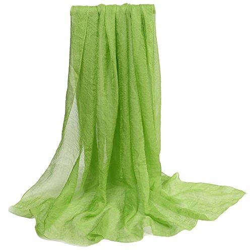Bluelans® Chiffon Schal Stola für Abendkleider in verschiedenen Farben (150cm X 120cm, Hellgrün) (Chiffon-schal Der Frauen)