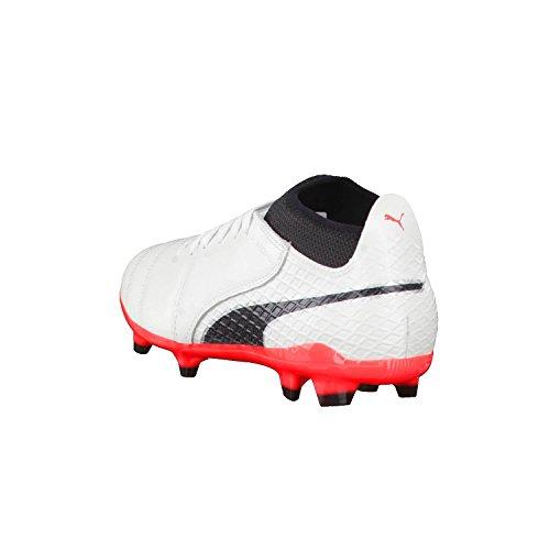Puma One 17.2 FG, Chaussures de Football Homme Blanc/noir/rouge