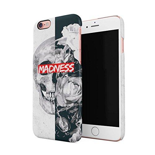 Queen Skull Madness Vintage Blumen Roses Grau Marmor Dünne Rückschale aus Hartplastik für iPhone 6 Plus & iPhone 6s Plus Handy Hülle Schutzhülle Slim Fit Case Cover