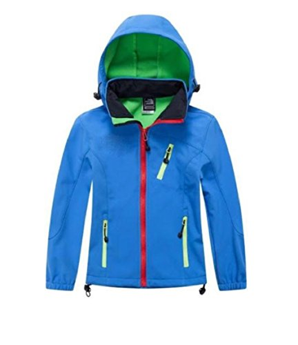 Girls Boys Waterproof Rain Jackets Wind Breaker Lined Jackets Hooded Warm Age 3-9 Years