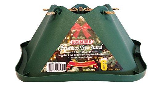 Bosmere Supporto Base Per Albero Di Natale, In Plastica, Con Foro Per Tronco, Verde