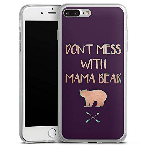 Apple iPhone X Slim Case Silikon Hülle Schutzhülle Mama Bär Muttertag Mutter Silikon Slim Case transparent