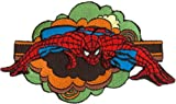 SPIDERMAN Spidey Retro Cloud Patch pièce, Officially Licensed Marvel Comics Spider-Man Superhero Artwork Création, Iron-On / Sew-On, 2.7' x 4.75' EmbroideRed rougebrodé Patch pièce