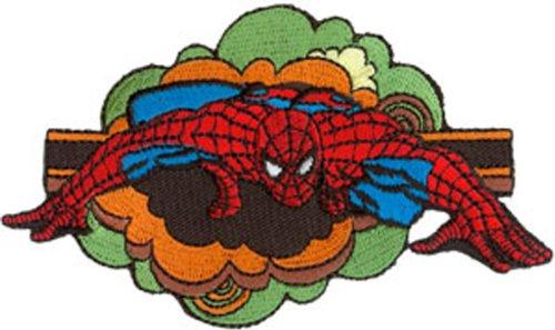 "Preisvergleich Produktbild SPIDERMAN Spidey Retro Cloud Patch Fleck, Officially Licensed Marvel Comics Spider-Man Superhero Artwork, Iron-On / Sew-On, 2.7"" x 4.75"" EmbroideRed rotBestickt Patch Fleck"