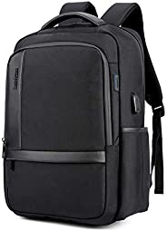 Classic Laptop Travel Bag, Large Professional Waterproof School College Backpack with USB Charging Port for Me