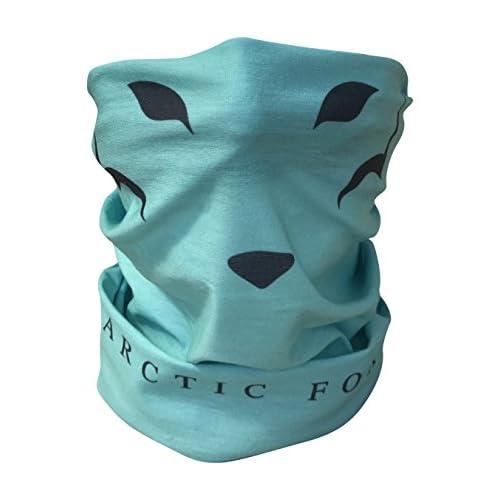 41YfBX8%2BtgL. SS500  - Arctic Aura Blue Green Fox Face Multifunctional Scarf - Ski Mask and Headband for Snowboarding, Hiking, Running, Camping Outdoor Sports