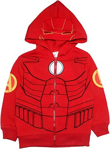 Marvel Avengers Kinder Jungen Reißverschluss Pullover Hoodie Sweatshirt Rot 7-8 Jahre