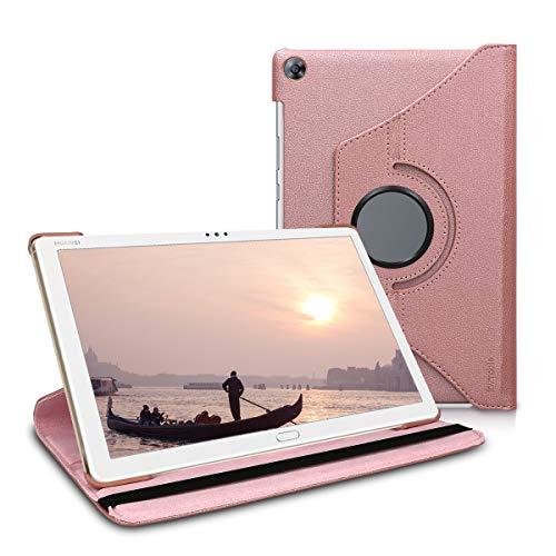 kwmobile Huawei MediaPad M5 Lite 10 Hülle - 360° Tablet Schutzhülle Cover Case für Huawei MediaPad M5 Lite 10 - Rosegold