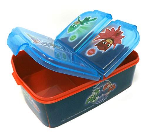 PJ Masks Kinder Brotdose mit 3 Fächern, Kids Lunchbox,Bento Brotbox für Kinder - ideal für Schule, Kindergarten oder Freizeit thumbnail
