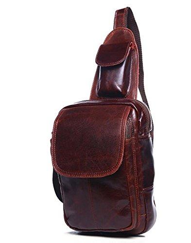 DJB/ Verrückte Pferd Leder Mann Tasche Kuhfell Leder koreanischen Mann Tasche Brust für Herren casual geschleudert Paket 2