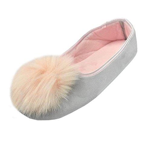 Chaussons Plush Slippers, Amlaiworld Femmes Pantoufles à la Maison Chaussures chaudes de Femmes Enceintes Chaussures de Yoga