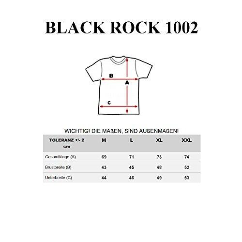 BOLF Herren T-Shirt Tee Kurzarm Slim Fit Classic V-neck 3C3 Motiv Dunkelblau