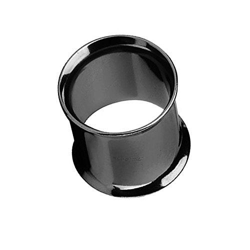 Piercingfaktor Unisex Flesh Tunnel Ohr Schraub Ear Plug Piercing Tribal Edelstahl Schraubverschluss Ohrpiercing Double Flared 14mm Schwarz