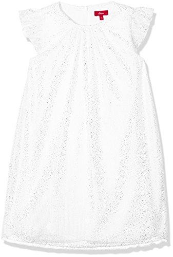 s.Oliver Mädchen 58.802.82.2754 Kleid, Weiß (White Multicolored Stripe 01S3), 116 Weiß Junior Kleider