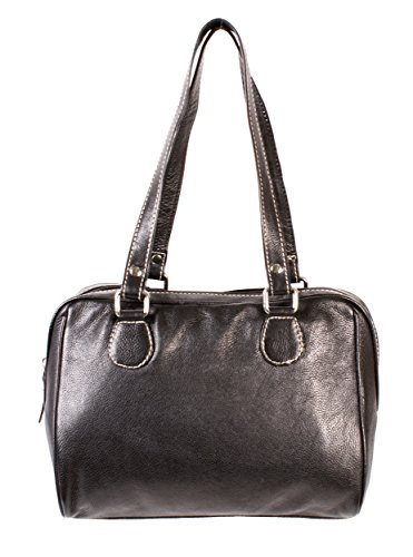 Rl 664 Noir Londres Mesdames sac à main en cuir véritable – Oxbridge Medium Fashion Bag